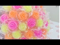This video is an updated version of the cute straw roses, which I posted before. Plastic Straw Crafts, Recycled Plastic Bags, Recycled Crafts, Straw Art, Diy Straw, Summer Crafts, Fun Crafts, Crafts For Kids, Straw Projects