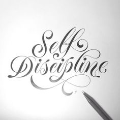 Self Discipline. Nuff said. Artwork via @novia_jonatan #typematters by type_matters from http://ift.tt/1l8LjJi