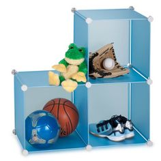 Storage Cubes Blue Set Of 3 now featured on Fab.