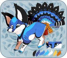 Bluejay Foxfan Custom by Belliko-art.deviantart.com on @DeviantArt