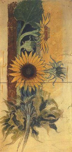 Stanislaw Wyspianski, Sunflower - polychromy in St. Francis of Assisi's Church, Kraków, 1895
