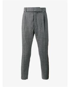 HAIDER ACKERMANN Virgin Wool Houndstooth Dropped Crotch Trousers
