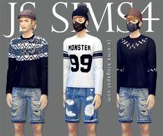 [JS SIMS 4] Men's Wear Collection | JS SIMS
