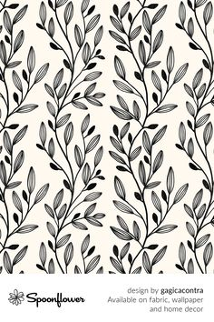Customize your own home decor, #wallpaper and #fabric at Spoonflower. Shop your favorite indie designs on #fabric, #wallpaper and home decor products on Spoonflower, all printed with #eco-friendly inks and handmade in the United States. #patterndesign #textildesign #pattern #digitalprinting #homedecor #vines Cute Wallpaper Backgrounds, Fabric Wallpaper, Cute Wallpapers, Floral Designs, Watercolor Flowers, Custom Fabric, Spoonflower, Diy Wedding, Vines