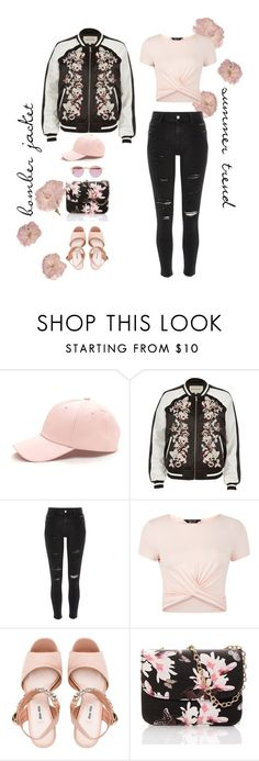 """""""delicate bomber... say what?"""" by ice-cream-is-nice-cream ❤ liked on Polyvore featuring River Island, New Look, Miu Miu, Sheriff&Cherry and bomberjackets"""