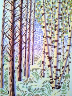 Prints and drawings by Brighton artist Peta Taylor. Peta, A3, Giclee Print, September, Trees, Landscape, Abstract, Drawings, Artist
