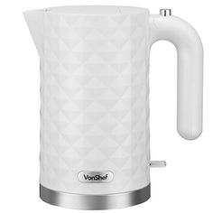 VonShef 3000W 1.5L Cordless White Diamond Electric Jug Kettle Kettle, Kitchen Appliances, Diamond, Tableware, Electric, House, Diy Kitchen Appliances, Teapot, Home Appliances