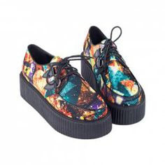 $16.77 Trendy Women's Creepers Shoes With Color Block and Lace-Up Design