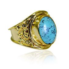 prettyish Turquoise Copper Turquoise Ring suppiler L-1in US 5678