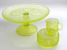 Neon yellow Grapponia by Nanny Still Glass Design, Design Art, Minnen, Little Dream Home, Vintage Kitchenware, Alvar Aalto, Lassi, Drinking Glass, Glass Ceramic