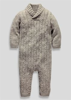 Boys Knitted Romper (Newborn - 18mths) - Matalan