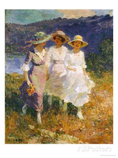 Walking in the Hills Posters by Edward Henry Potthast at AllPosters.com