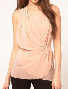 Rose Pink Chiffon Blouse - Summer Dresses & Tops