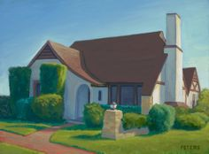 """Tony Peters :  """"The Animator's House"""" oil on canvas, 9 x 12 inches."""