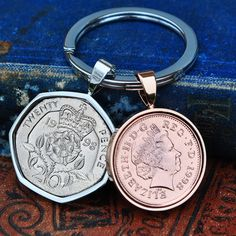 1998 Copper 21st Birthday Keyring, 21st Key to the Door, Penny Birth Year Coin 21st Coin Mens Son Birthday Copper Anniversary Present Lucky