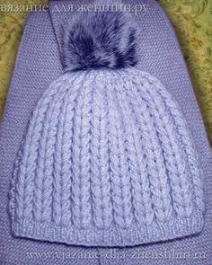 Как связать шапку спицами рельефным узором  описание вязания на ... 627636adebf94