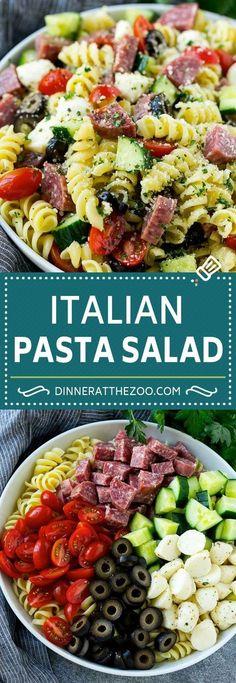 Italian Pasta Salad Recipe   Easy Pasta Salad