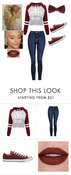 """You lie lol sarcasm keeps us healthy"" by singer2002 ❤ liked on Polyvore featuring beauty, WithChic, Topshop and Converse"
