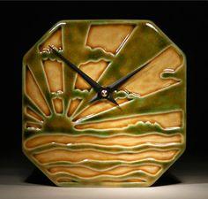 Echo-of-Deco-custom Amber Sun clock