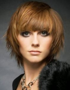 Image result for Short Layered Bob Haircuts with Bangs