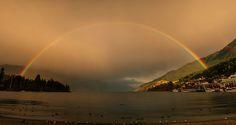 Rainbow over Queenstown