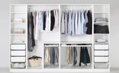 61 Trendy Ideas For Bedroom Ikea Closet Built Ins Ikea Wardrobe, Wardrobe Organisation, Ikea Closet, Built In Wardrobe, Closet Built Ins, Closet Shelves, Closet Storage, Bedroom Storage, Storage Cart