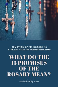 What do the 15 promises of the Rosary mean? - My Catholic faith - Praying The Rosary Catholic, Catholic Books, Holy Rosary, Catholic Religion, Catholic Prayers, Catholic Gifts, Roman Catholic, Catholic Art, Catholic Jewelry