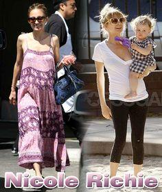 Nicole Richie ニコールリッチー ニコール・リッチーの最新画像!紫色のロングワンピースが可愛い!ハーロウちゃんと一緒に遊ぶときはラクチンな格好です♪ ハリウッドセレブ最新画像 ブログ Nicole Richie, Doll, Style, Fashion, Swag, Moda, Fashion Styles, Puppet, Dolls