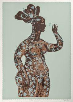 """""""Flora"""" by Sarah Young (silkscreen print)"""