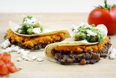 bean & sweet potato tacos