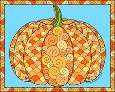 Don't Eat the Paste: Pumpkin to color