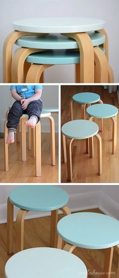 Frosta STOOLS - PAINTED IN SHADES OF MINT