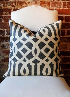 Imperial Trellis Midnight Pillow Cover by Martha and Ash traditional pillows