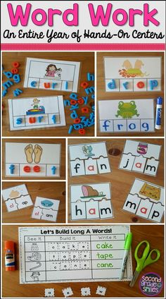 Make planning Daily 5 word work or spelling centers a breeze! This bundle has everything you need for your first or second grade students to practice phonics and spelling skills all year! I use these hands-on activities in my literacy centers every week!