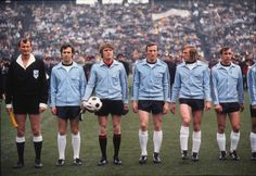bundesligaclassic: Franz Beckenbauer, Sepp Maier, Georg Schwarzenbeck, Günter Netzer and Horst Dieter Höttges before the 1972 EURO final against the Soviet Union.