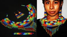 Native Beaded Choker Native American от BiuluArtisanBoutique