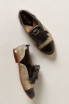 Goldust Kiltie Oxfords - anthropologie.com