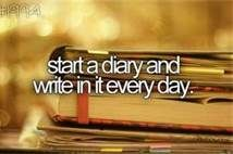 This seems easy but it's really hard to write every day. #bucketlist