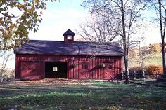Red Barn - not too bright of a red ELIMINATING THE WHITE TRIM MAKES IT LOOK MORE FARMISH AND LESS POLE BARNISH