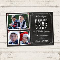 Custom Photo Christmas Card  5x7 printable by ValeriePullam, $14.00