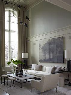 white garden stool - Parisian Style Townhouse