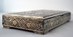 Silver persian box with hunting decor on Etsy, $449.12 CAD VINTAGE #Etsy #Vintage @Etsy