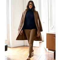 Double-breasted Straight Wool Coat | Endource