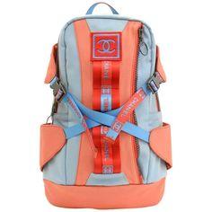 81cd4278c Chanel Sports Line Red x Blue Canvas Backpack Bag | 1stdibs.com Backpacks  For Sale
