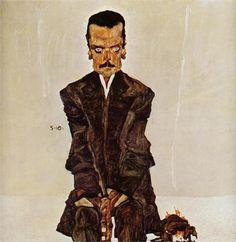 Portrait of the Publisher Eduard Kosmack, 1910, Egon Schiele