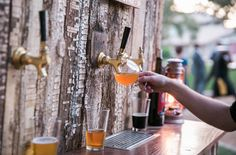 Rustic Beer Bar Brass Faucets - Photo Credit @kelseyalbright