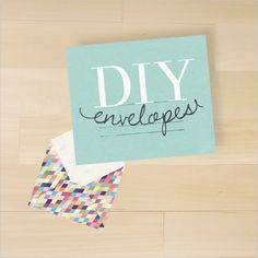 You don't have to settle for boring white envelopes any more. Make your own! It's so simple, and you can choose whatever color or pattern you like. TIP: Double-sided scrapbook paper is ideal for this project!