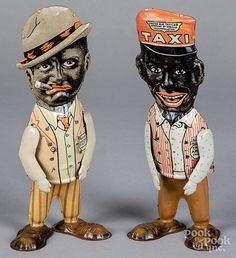Marx tin lithograph Amos and Andy walking wind-up Tin, Auction, Fictional Characters, Collection