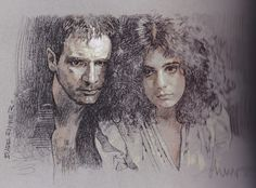 Art by Drew Struzan #BladeRunner Blade Runner Art, Blade Runner 2049, Art Sketches, Art Drawings, Fantasy Paintings, Movie Poster Art, Sci Fi Movies, Cool Art, Awesome Art