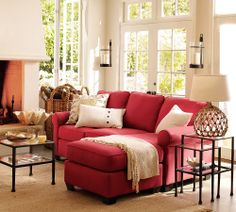 Currently loving the idea of a red couch!